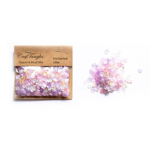 Enchanted Liliac - CrafTangles Sequin and Bead Mixes