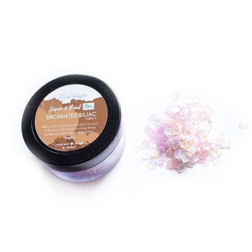 Enchanted Liliac - CrafTangles Sequin and Bead Mixes Jar (30 gms)