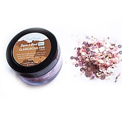 Glamarous Pink - CrafTangles Sequin and Bead Mixes Jar (30 gms)