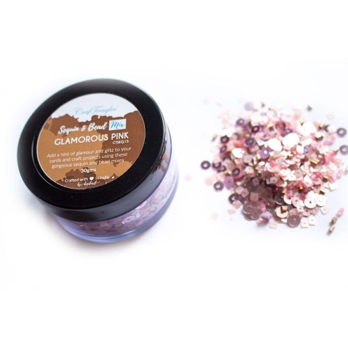 Glamarous Pink - CrafTangles Sequin and Bead Mixes Jar (30 gms)