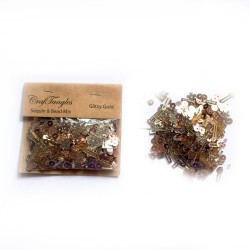 Glitzy Gold - CrafTangles Sequin and Bead Mixes