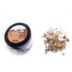 Glitzy Gold - CrafTangles Sequin and Bead Mixes Jar (30 gms)