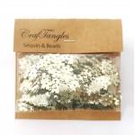 CrafTangles Sequins - Golden Flowers
