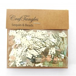 CrafTangles Sequins - Golden Rectangles