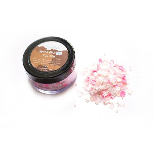 Hot Pink - CrafTangles Sequin and Bead Mixes Jar (30 gms)
