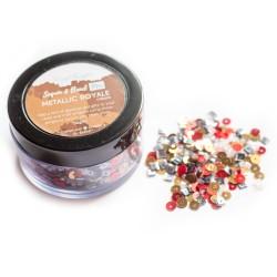 Metallic Royale - CrafTangles Sequin and Bead Mixes Jar (30 gms)