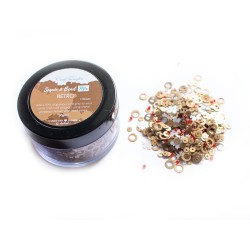 Retro - CrafTangles Sequin and Bead Mixes Jar (30 gms)