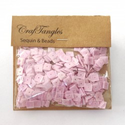 CrafTangles Sequins - Shimmer Baby Pink Squares
