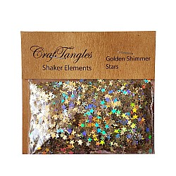 CrafTangles Shaker Elements - Golden Shimmer Stars (10 gms)