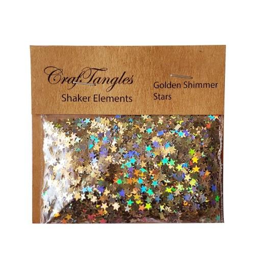 CrafTangles Shaker Elements - Golden Shimmer Stars (10 gms)