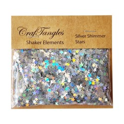 CrafTangles Shaker Elements - Silver Shimmer Stars (10 gms)