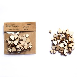 CrafTangles Shaker Elements - Wooden Hearts