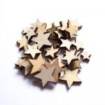 CrafTangles Shaker Elements - Wooden Stars