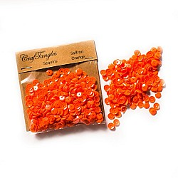 CrafTangles Sequins - Saffron Orange