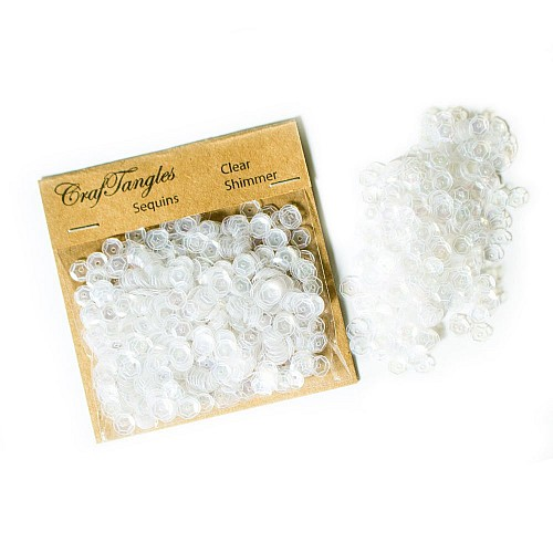 CrafTangles Sequins - Clear Shimmer