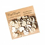 CrafTangles Shaker Elements - Wooden Love Hearts (Light)