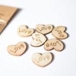 CrafTangles Shaker Elements - Wooden Love Hearts (Light)