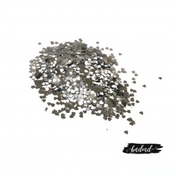 Craft Heart Sequins - Silver