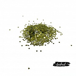Craft Heart Sequins - Olive Green