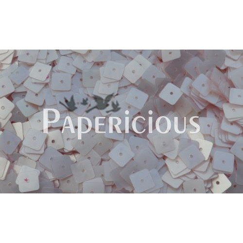 Papericious Square Sequins - Ivory (SEQ-SA1501)