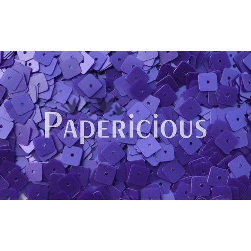 Papericious Square Sequins - Purplish Blue (SEQ-S1102)