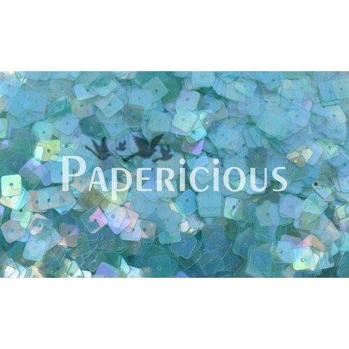 Papericious Square Sequins - Translucent Turqouise (SEQ-SA1201)