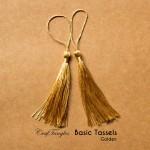 Basic Tassels - Golden (Pack of 5)