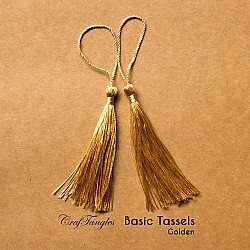 Basic Tassels - Golden (Pack of 5)