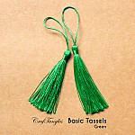 Basic Tassels - Green (Pack of 5)