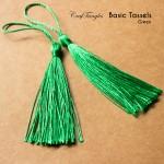 Basic Tassels - Green (Pack of 5)