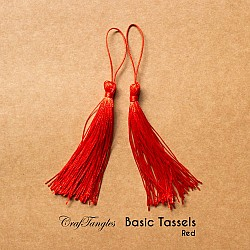 Basic Tassels - Red (Pack of 5)