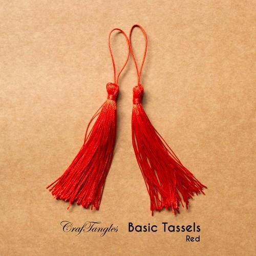 Basic Tassels - Red (Pack of 5)