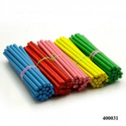 Wooden Dowels/ Round craft sticks - Coloured (3.25 inch)