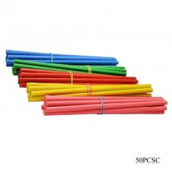 Wooden Dowels/ Round craft sticks - Coloured (6 inch)
