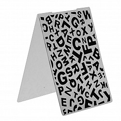 "Embossing Folder - Jumbled Alphabets (4""X5.5"")"