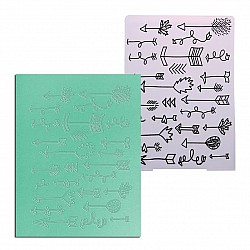 "Embossing Folder - Arrows (4""X5.5"")"