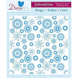 Embossing Folder - Flower Power (8 x 8 inch)