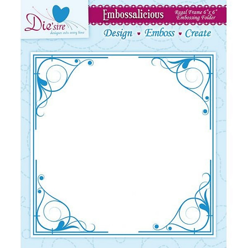 Buy Embossing Folder - Regal Frame (6 x 6 inch) online in India at ...
