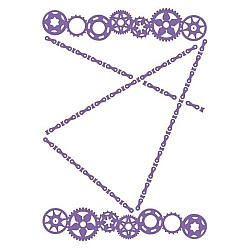 Couture Creations Embossing Folder - Large Cogs (5X7)
