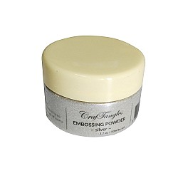 CrafTangles Embossing Powder - Silver (1.7 oz/50 ml)