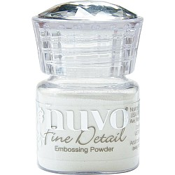 Nuvo Embossing Powder Fine Detail .68oz - Glacier White