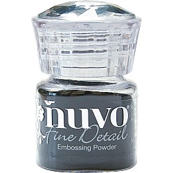 Nuvo Embossing Powder Fine Detail .68oz - Jet Black