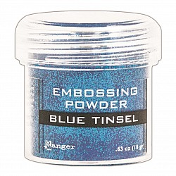 Ranger Embossing Powder - Blue Tinsel