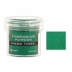 Ranger Embossing Powder - Green Tinsel