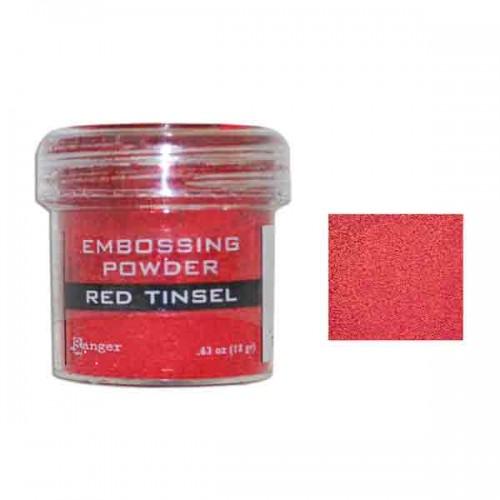 Ranger Embossing Powder - Red Tinsel