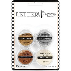 Ranger Letter It Embossing Powder Set - Tinsels