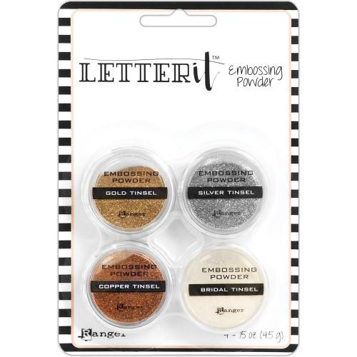 Ranger Letter It Embossing Powder Set - Tinsels