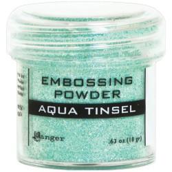 Ranger Embossing Powder - Aqua Tinsel