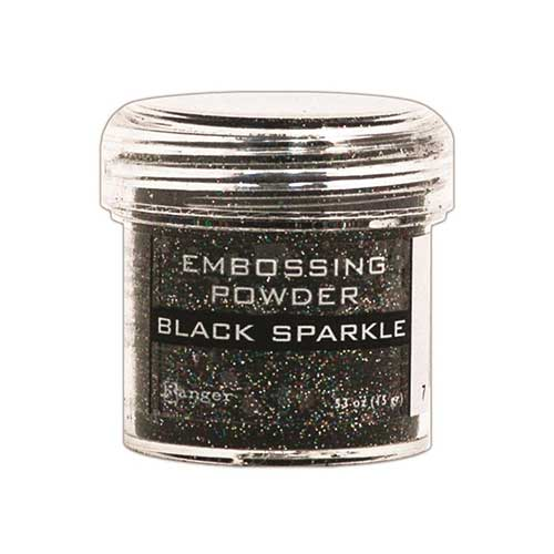 Ranger Embossing Powder - Black sparkle