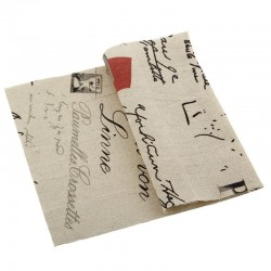 Printed Fabric - Vintage Postmark